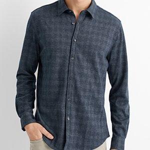 Point Zero gray plaid flannel shirt NWT